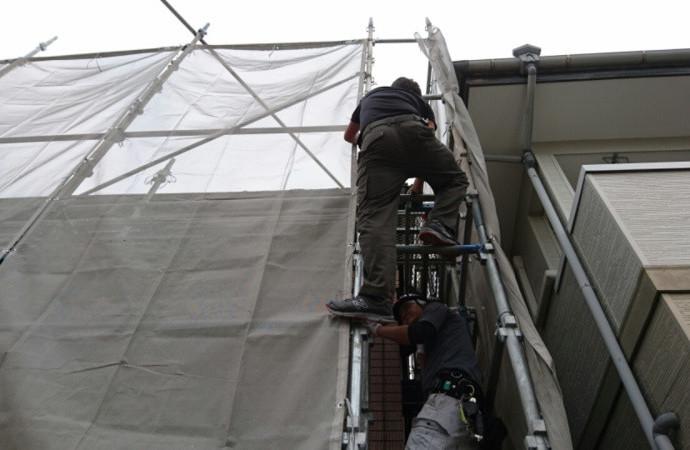 <p>外壁塗装は一流の塗装職人が担当しますので、仕上がりも格段に違います。</p>