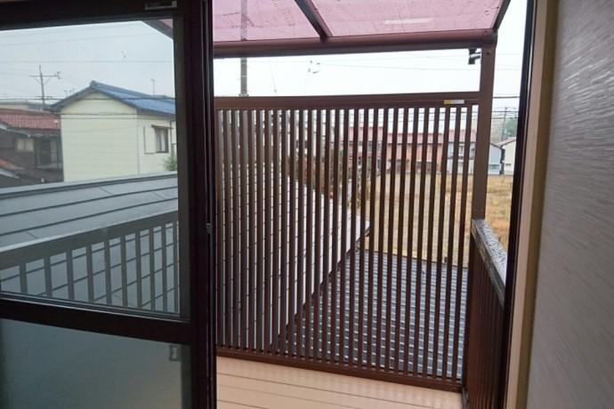<p>大垣市のリフォーム</p> <p>二階からの風は気持ちいいですね~目隠しの兼ねて風</p> <p>も入れます</p>